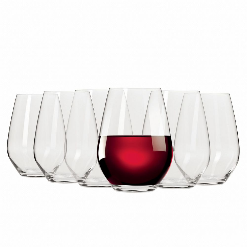 Wine Glasses - Stemless Red Wine 540ML Set of 6